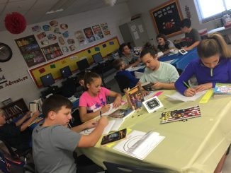 Central Elementary book tasting