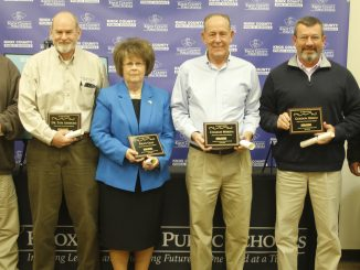 Members of the Knox County Board posed for a photo in recognition of their contributions to education in Knox County.