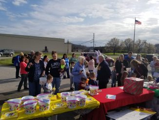 Save the Children sponsored an Easter Egg Hunt on March 26, 2018. Shown are parents and children that participated in the event.