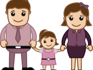 Clipart of man, woman, and child
