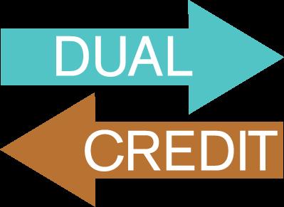 dual credit arrow clipart