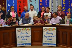 Proclamation signing by Knox Board