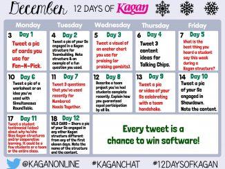 12 Days of Kagan calendar