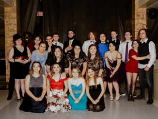 Students pose for a photo at Knox Central's Snowball Dance.