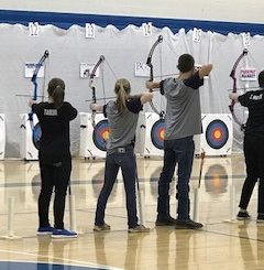 Knox Central archery team aims for target.