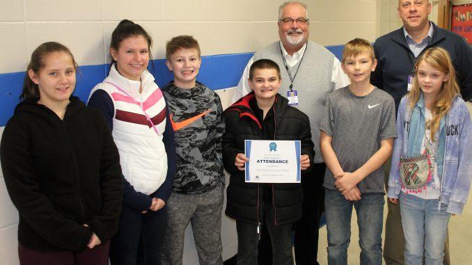 Flat Lick Elementary attendance winners