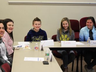 Smiling faces as the Superintendent's Student Council meeting on February 14.