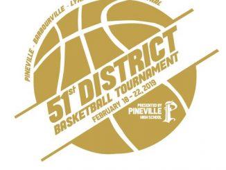 2019 51st District Basketball Tournament logo