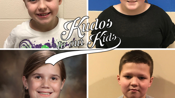 Kudos to our Kids logo with collage of the first four nominees photographs shown in a square image.