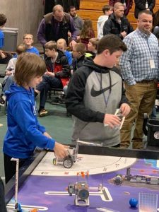 Students in action at FIRST LEGO Robotics
