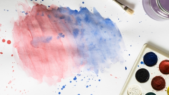 Clipart photo showing splattered paint on a canvas