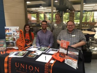 Representatives from Union College had a table decorated and ready to speak with students.