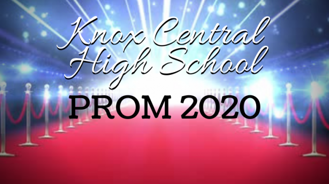 Red carpet illustrated background with KCHS Prom 2020 text.