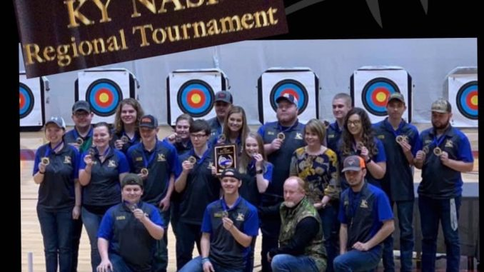 All members of the KC archery team are shown with first place win.