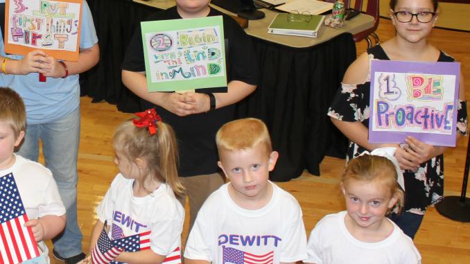 Dewitt Pledge of Allegiance and Leader in Me