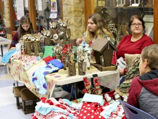 Local artists are shown setup during last year's Arts Festival at Knox Central.