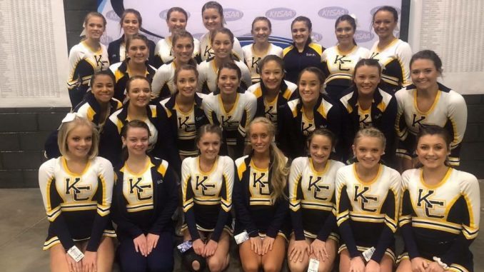 Knox Central Cheerleaders pose at the KHSAA cheer competition.
