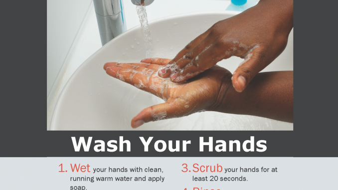 A flyer from the Knox County Health Department that details the importance of good hand washing to prevent Hep A and other illnesses.
