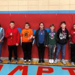 Overall math winners at the Sixth Grade Showcase