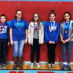 Language Arts overall winners at the Sixth Grade Showcase