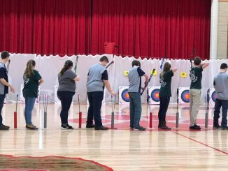 Knox County's archers shown at the Corbin Snowball Shoot