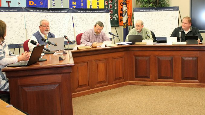 Thank you banners surrounded Board members during the January meeting.