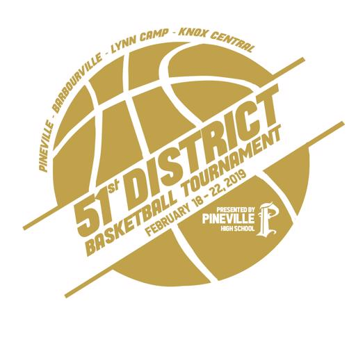 2019 51st District Basketball Tournament logo
