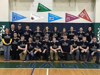 Knox Central archery members after winning regional title.