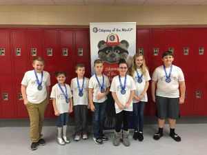 Lay Elementary OM'ers were all smiles after winning first at the east-central tournament.