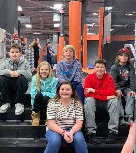 Lay Elementary LEGO Robotics team pose