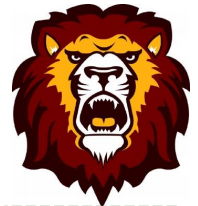 Dewitt Lion Leader mascot logo