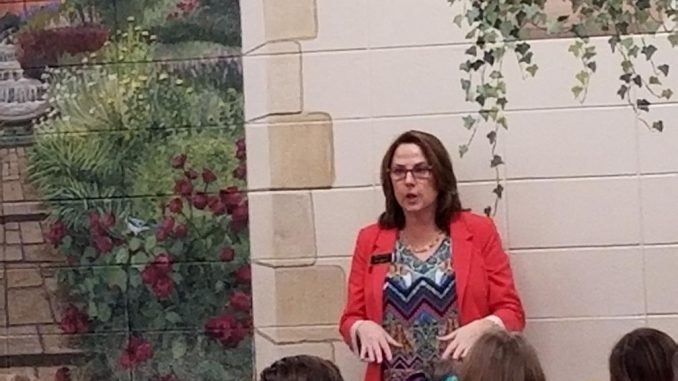 Corbin Mayor Suzie Razmus is shown during a visit to Lynn Camp