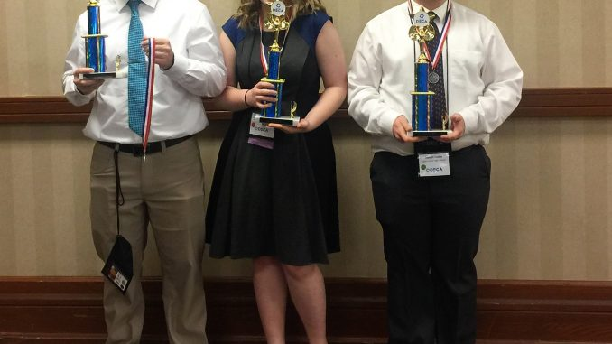 Lynn Camp marketing students pose with trophies following the state conference.