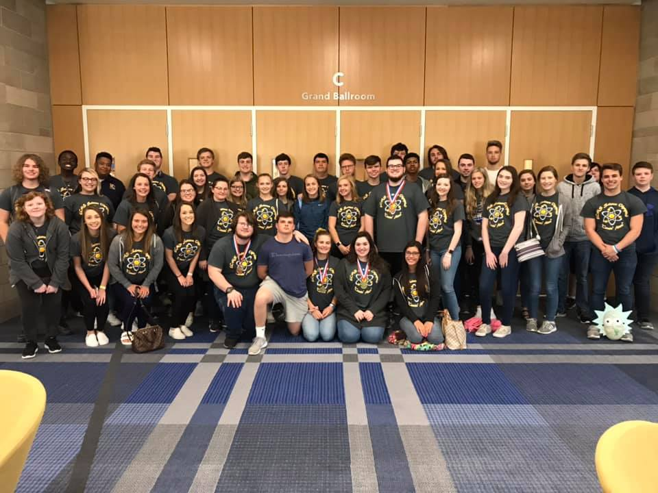 Knox County's Science Olympiad students pose for a photo at the University of Kentucky.