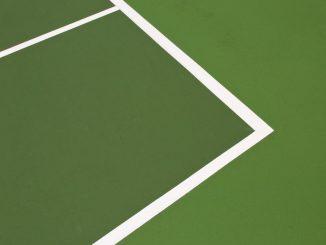 Artwork of a tennis court stripping