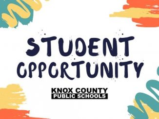 Student Opportunity inforgraphic with paint stripes and KCPS logo