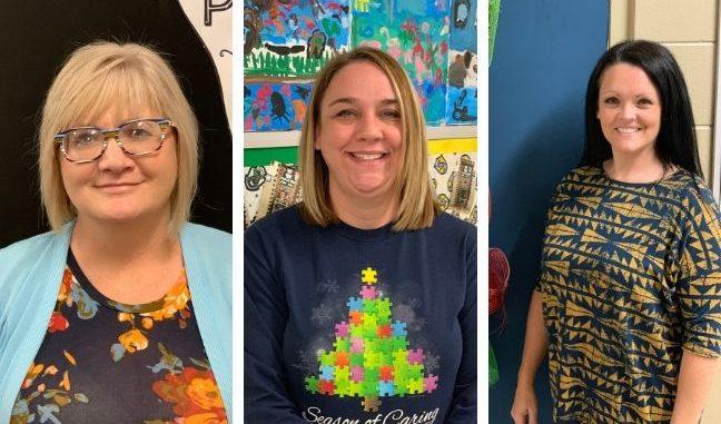 Sheila Mills, Olivia Holstein and Tabitha Frederick photos stacked