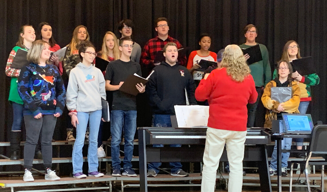 Knox County choir performing at the Christmas Bazaar held in December 2019.