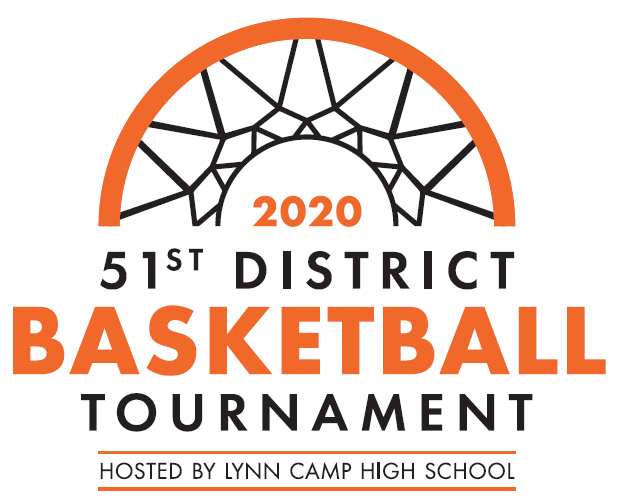 Basketball net logo for 51st District Tournament