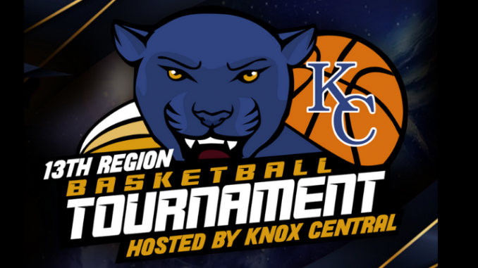 Logo for the 13th Region tournament featuring panther head