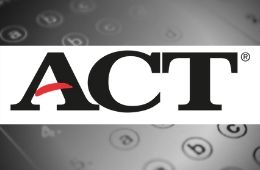 Logo for ACT with multiple choice background