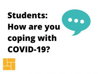 Infographic question: students, how are you coping with COVID-19?