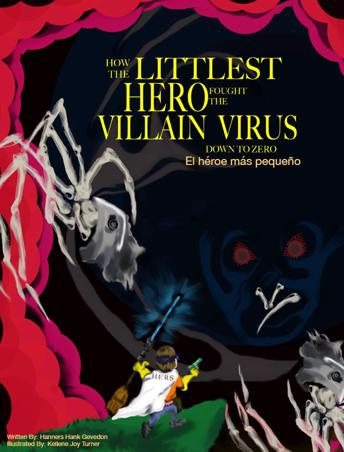Book cover for How the Littlest Hero Fought the Villain Virus