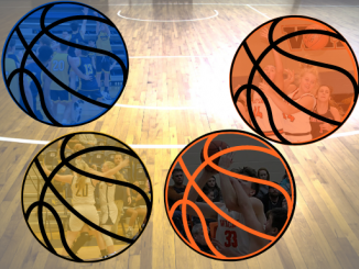 basketball preview image with one ball showing boys and girls teams from Knox Central and Lynn Camp