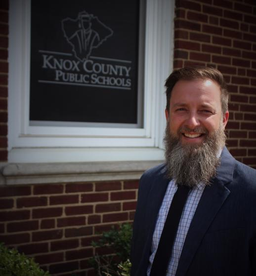 Jeremy Ledford shown in front of the Knox County offices