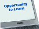 Chromebook shown with text opportunity to learn